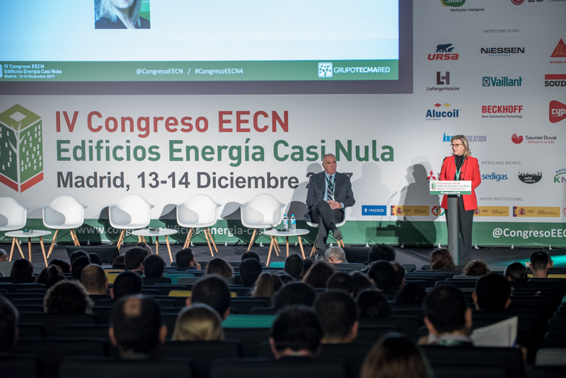 Inés Leal en la inauguración del IV Congreso Edificios energía Casi Nula 2017.