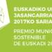 El 18 de enero Udalsarea21 otorgará el Premio Municipio Sostenible de Euskadi 2017