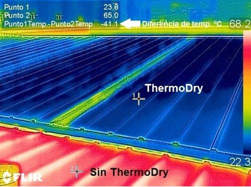 Figura 2. Imagen captada con cámara termográfica para comparar las temperaturas.