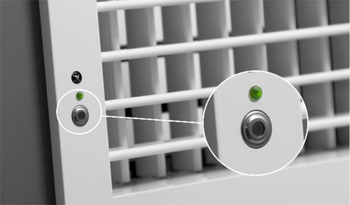 Figura 1. Sensor Thermopile integrado en rejilla difusora motorizada.