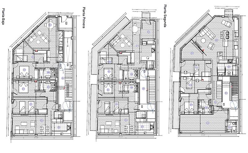 Figura 2. Planos de las tres plantas.