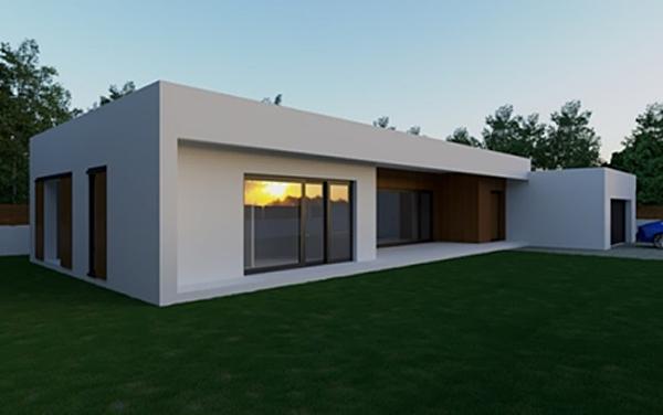 Figura 3. Infografía exterior proyecto de la vivienda.