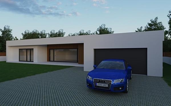 Figura 4. Infografía exterior proyecto de la vivienda.