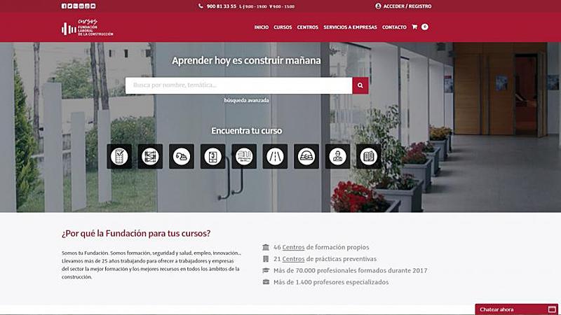 El nuevo portal de cursos de la Fundación Laboralincorporaun buscador donde se puede acceder de forma sencilla a las cerca de 400 acciones formativas del catálogo.