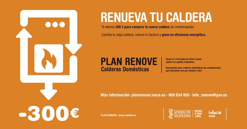 Los hogares valencianos que sustituyan sus viejas calderas o ventanas por otras de mayor eficiencia energética recibirán ayudas económicas de 300 euros y 90 euros por metro cuadrado respectivamente.