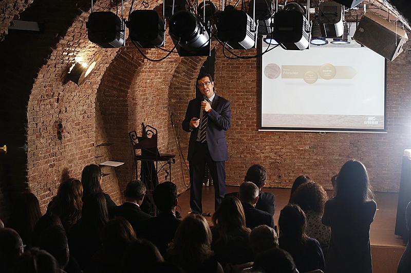 Arturo Casado, Director de I+D+i de la matriz URSA Insulation, durante la presentación.