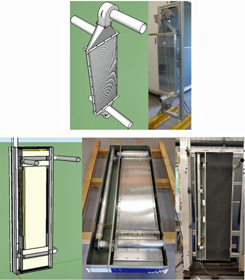 Figura 5. Diseño y prototipo 1 (Arriba). Diseño y prototipo 2 (Abajo).