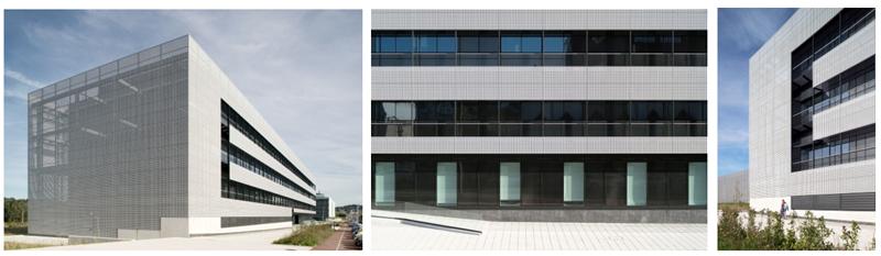 Figura 6. Pantallas de chapa perforada edificio de la plataforma tecnológica Martina Casiano, Vizcaya.