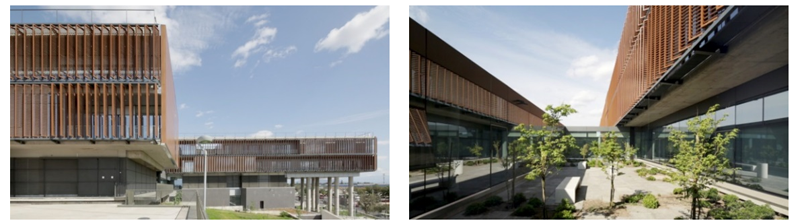 Figura 4. Sistema de Brise soleil en fachadas del Military Medical Center (SAMMC) Houston.