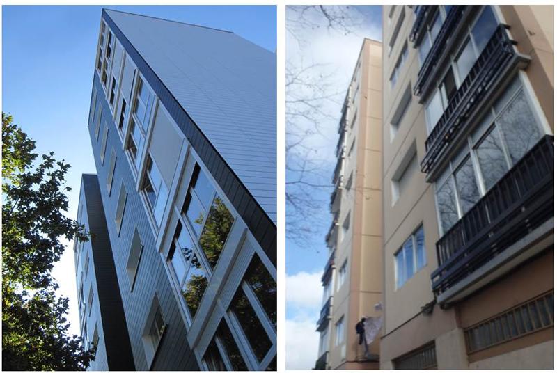 Barrio de Txantrea, antes y después de la rehabilitación
