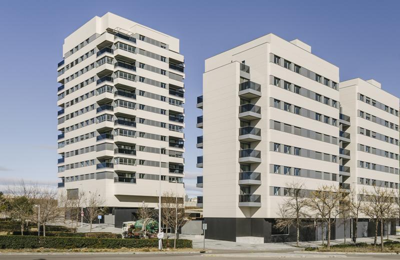 Fachada de Edificio Valdebebas 127 dekton by Cosentino
