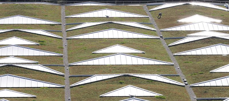 Las cubiertas verdes Urbanscape de Knauf Insulation ayudan a reducir la cantidad de CO2 presente en la atmósfera.