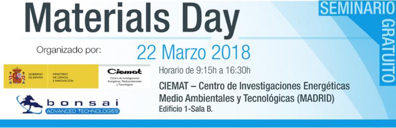 Ciemat organiza el Materials Day