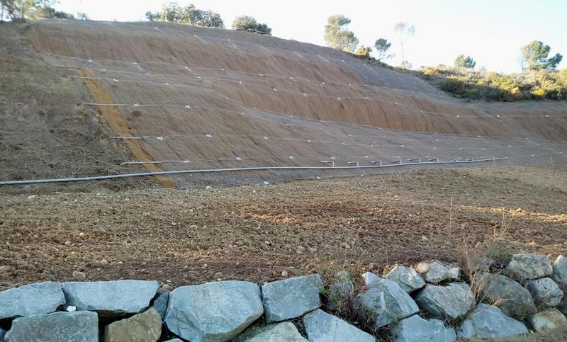 Sorigué aplica residuos orgánicos para la reparación de un muro de escollera