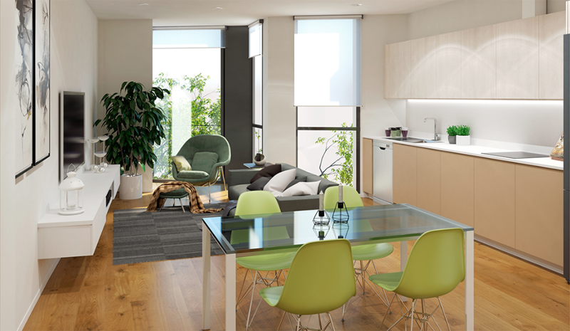 Proyecto de vivienda Marqués de Cruïlles con certificado Green Building