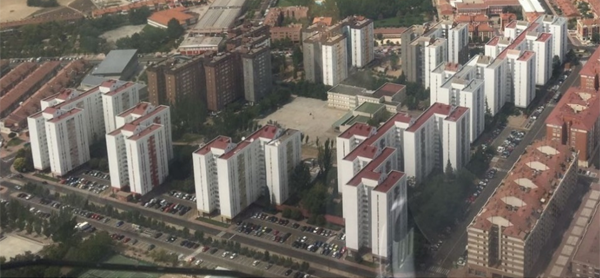 Figura 1. Vista aérea del distrito de Torrelago en la fase de rehabilitación.