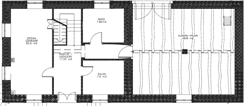 Figura 3. Planta baja original.