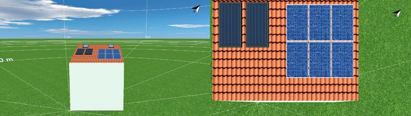 Figura 3. Simulación en 3D de la vivienda.