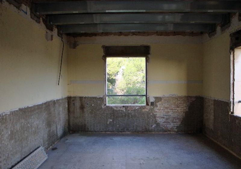 Figura 3. Vista de la cara interior de los muros de fachada.