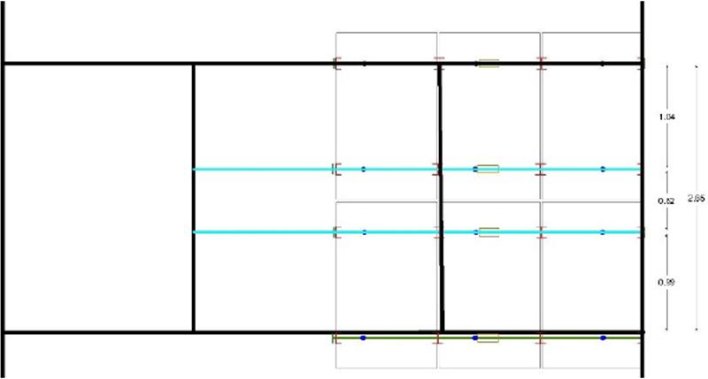 Figura 4. Plano de la estructura metálica de soporte de la instalación de 1.59kWp.