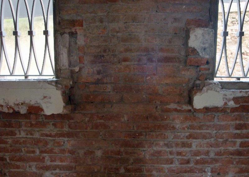 Figura 4. Vista de la cara interior de los muros de fachada.
