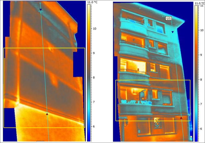 Termografías fachadas insufladas.