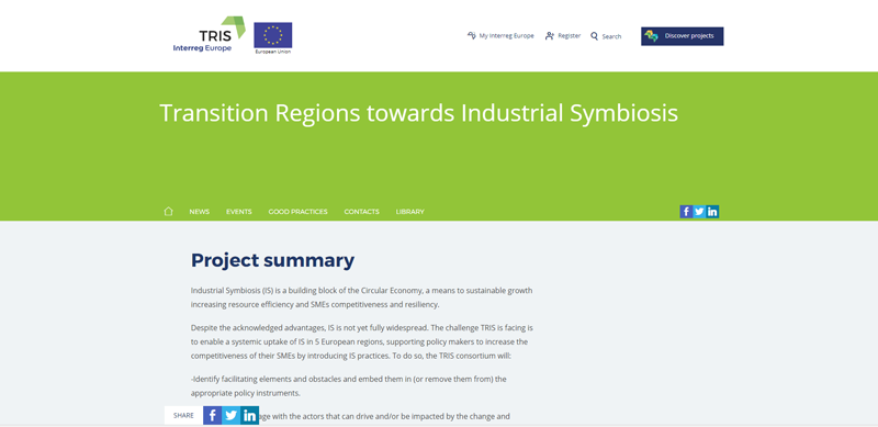 proyecto Transition Regions Towards Industrial Symbiosis