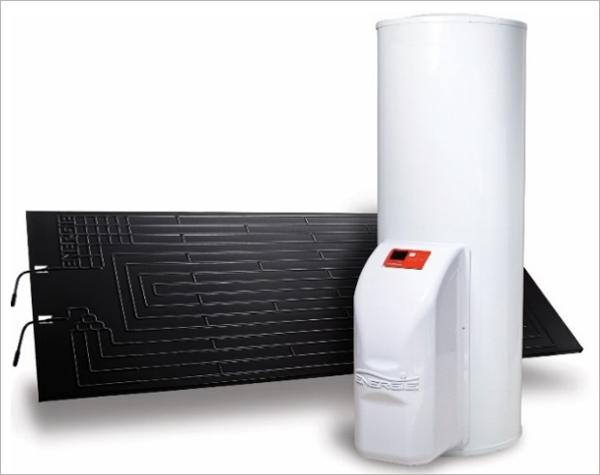 Figura 2. Bomba de calor con panel termodinámico para ACS.