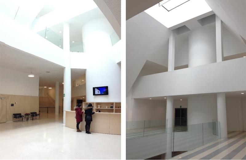 Figura 3. Hall acceso.  Figura 4. Atrio Hall acceso.