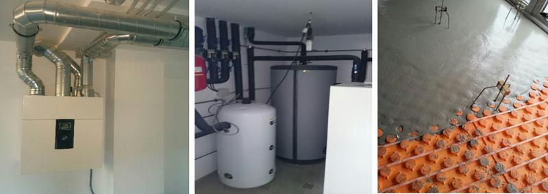 Imágenes de los sistemas de acondicionamiento e instalaciones de Casa Queta.