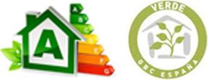 Sellos de certificación energética y ambiental de Casa Queta.