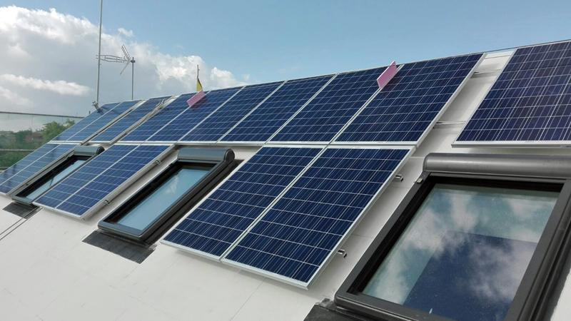 Figura 7. Instalación fotovoltaica en cubierta Sur.