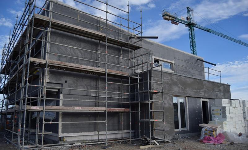 Imagen 7. Vista general de vivienda previo a acabados exteriores.