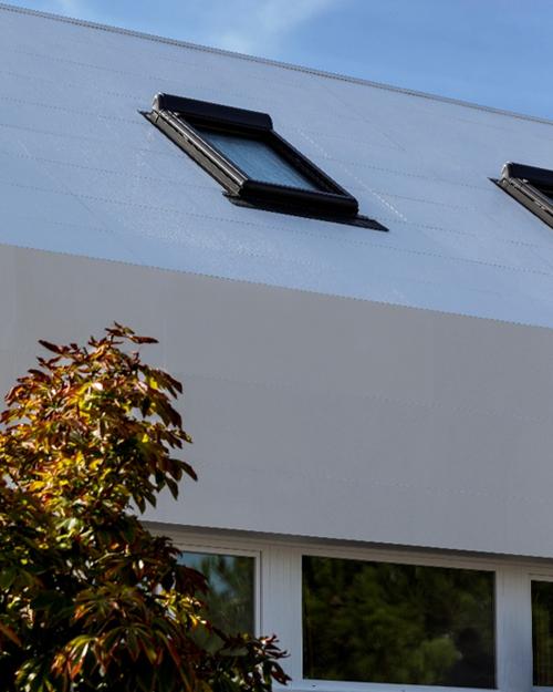 Figura 9. Encuentro fachadas cubiertas en continuidad.