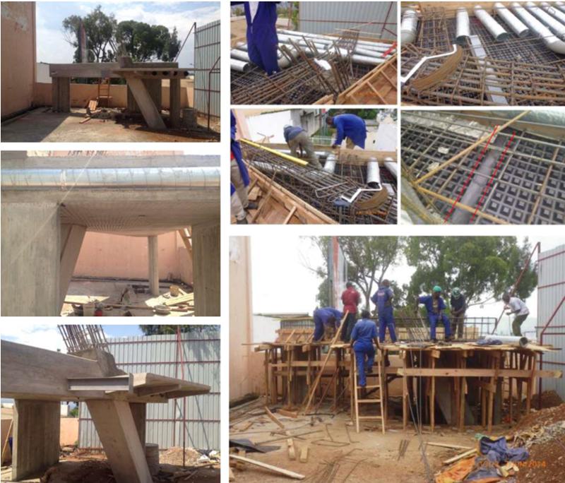 Imágenes de la construcción en obra