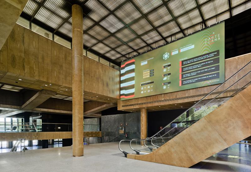 lobby del edificio Castellana 81