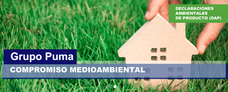 Declaraciones ambientales de producto individuales (DAP's) de Grupo Puma