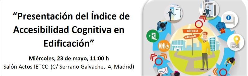 Presentación Índice de Accesibilidad Cognitiva en Edificación.