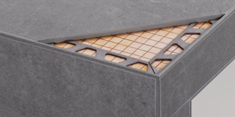 Soluciones de Schlüter-Systems para la construcción de duchas de obra y cerámica de gran formato