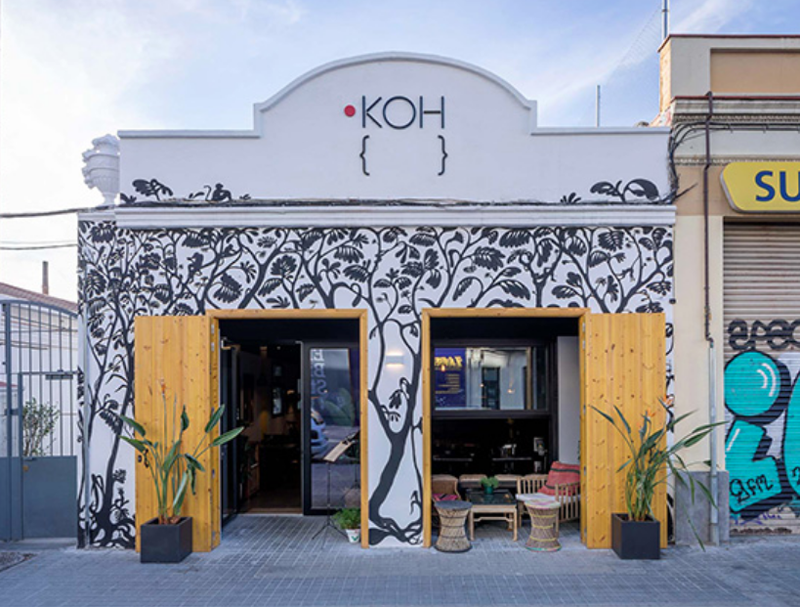 El restaurante KOH está ubicado en Barcelona