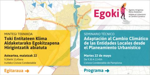 Seminario de clausura del proyecto Egoki en Pamplona para adaptar al cambio climático el urbanismo de los entes locales