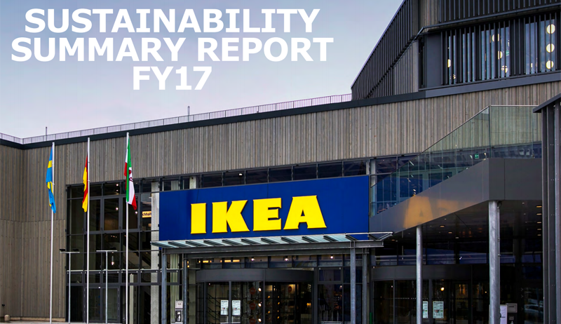 Portada Informe de Sostenibilidad del Grupo Inter IKEA FY17