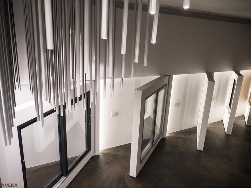 Interior de Espacio Futura con lámpara