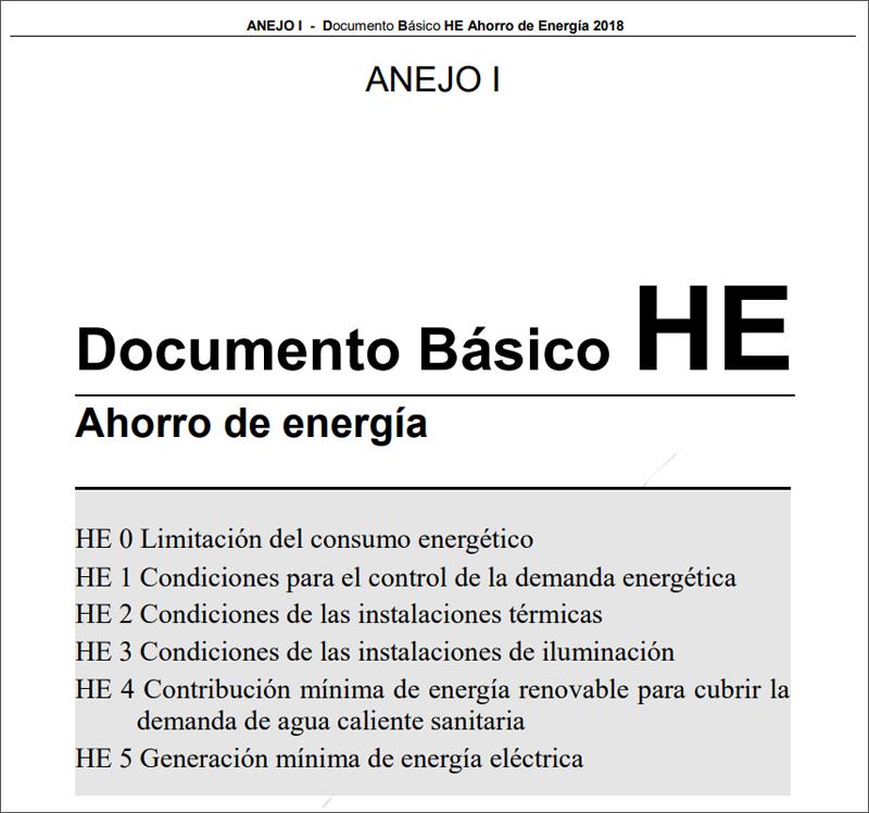 Portada Documento Básico HE Ahorro de Energía