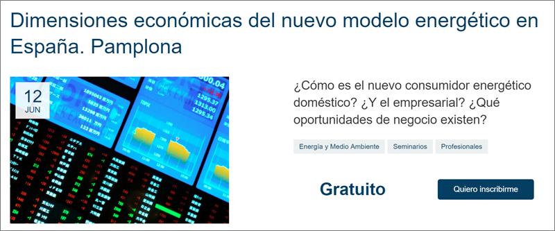 Cartel de la jornada de la Fundación Gas Natural Fenosa: Dimensiones económicas del nuevo modelo energético