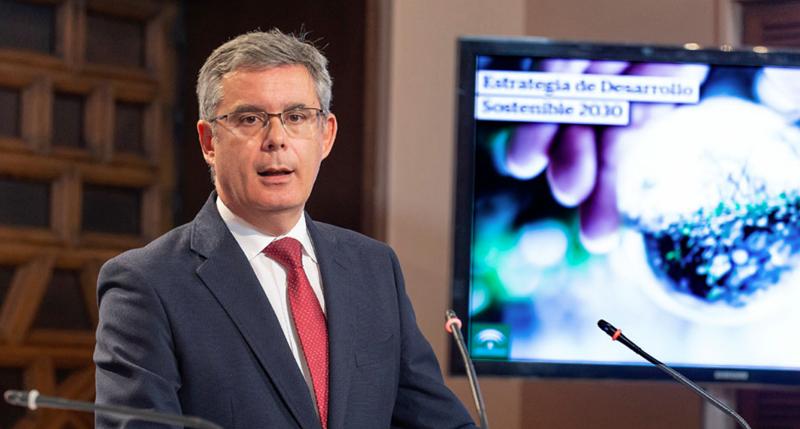 Juan Carlos Blanco, portavoz de la Junta de Andalucía