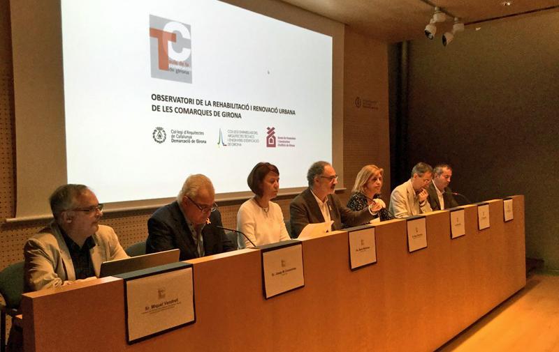Imagen de la presentación del Observatorio de la rehabilitación y renovación urbana de las Comarcas de Girona