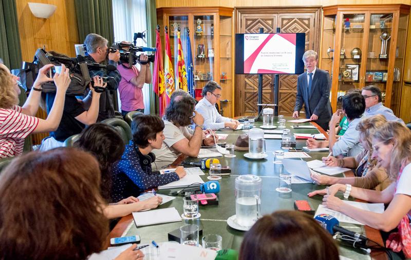 Acto de presentación del Plan de Inversiones de Zaragoza Vivienda 2018-2023