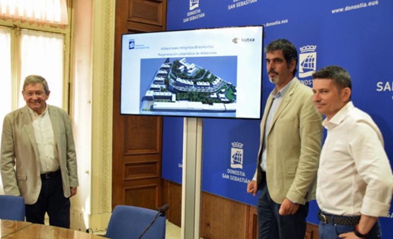 Presentación de los contenidos del acuerdo para la transformación urbana del ámbito de Aldakonea, en Egia.