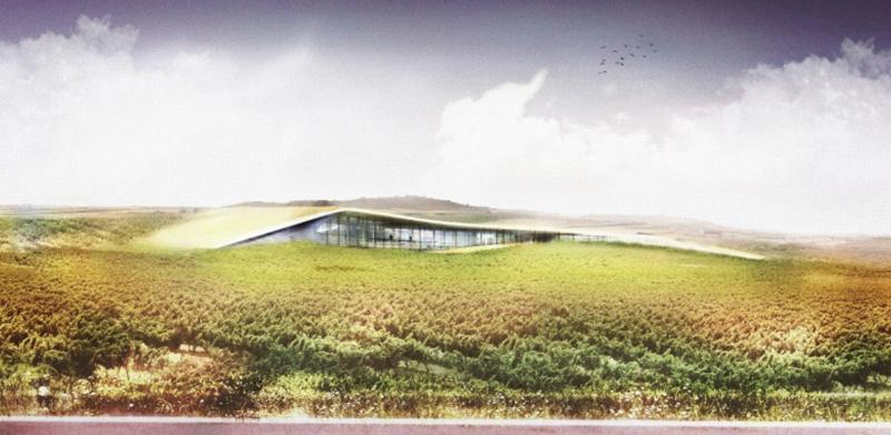 Exterior del futuro edificio para la bodega de Beronia en La Rioja